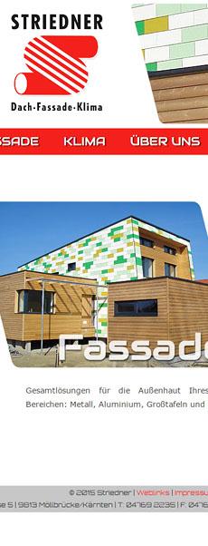Striedner Dach - Fassade - Klima