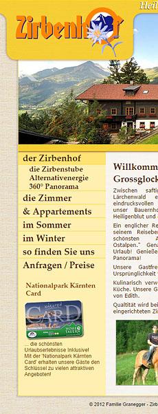 Zirbenhof Heiligenblut